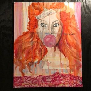 """POP!"" Original Mixed-Media Artwork. RTH."